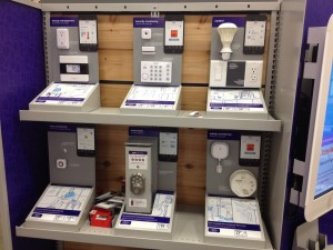 Iris home automation choices at Lowes Home Improvement center